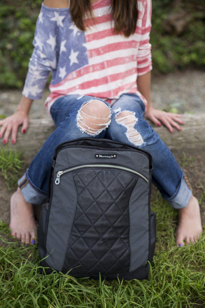 MotoChic Gear Lauren Bag Convertible Backpack Black