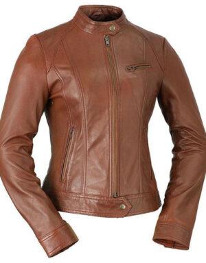 Favorite Ladies Fashion Jacket - Whiskey