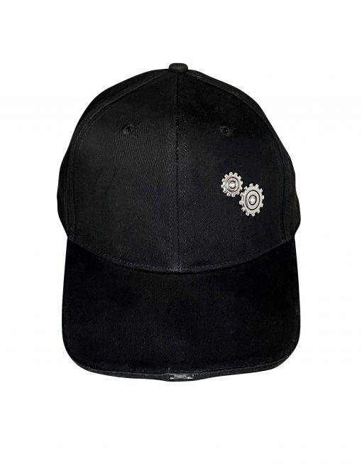 black baseball cap with LED lights
