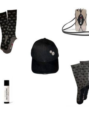 Dads & Grads Gifts – Performance Socks, Light Up Baseball Cap, Mobile Phone Lanyard, SPF 30 Lip Balm